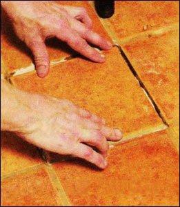 Замена треснувшей плитки своими руками