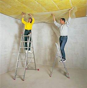 Звукоизоляция потолка своими руками