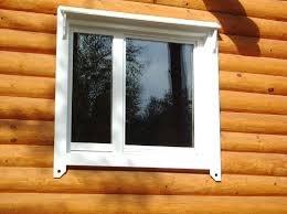 Как вставить окно ПВХ в сруб