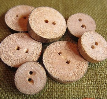 Как сделать пуговицу из дерева