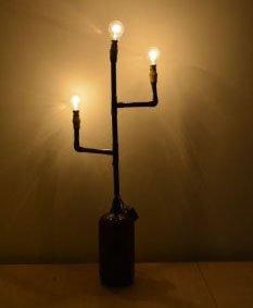 Лампа из ПВХ труб