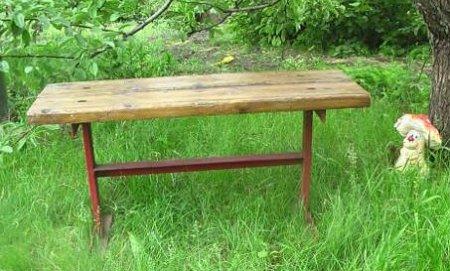 Как сделать скамейку из металла и дерева
